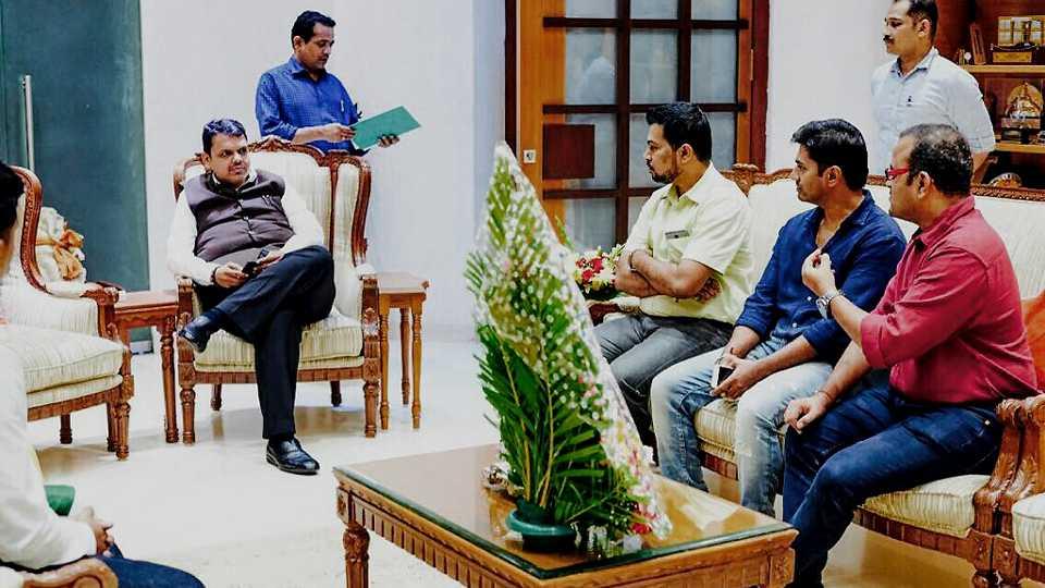 Marathi movie Agnipankh Team met Devendra Phadanvis esakal news