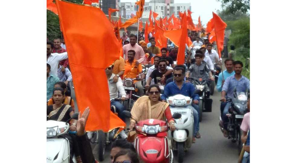 maratha kranti morcha two wheeler raly esakal news