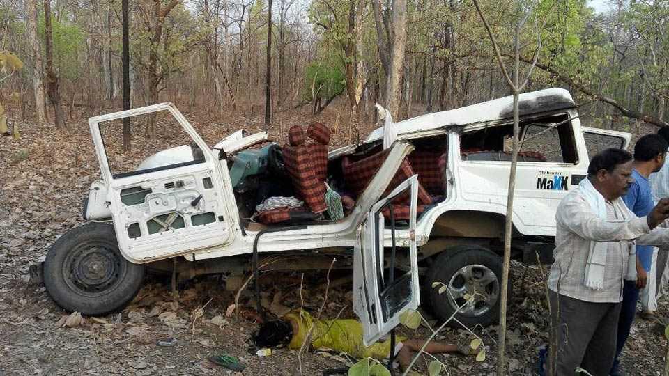 accident in gadchiroli district; 6 dead