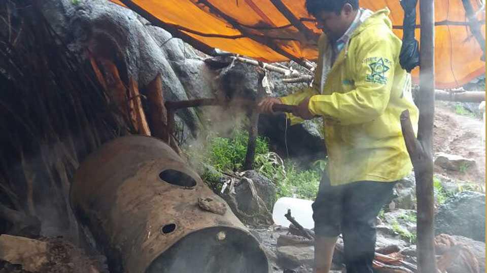 ghoti police destroy liquor