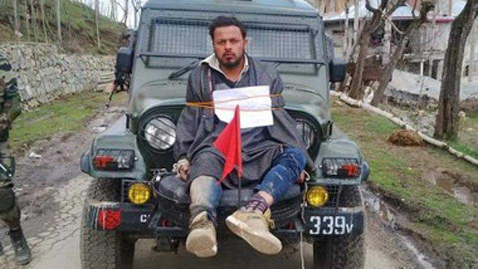 Brave Major Leetul Gogoi, who tied Kashmir 'stone-pelter' to jeep, gets award from Indian Army Chief