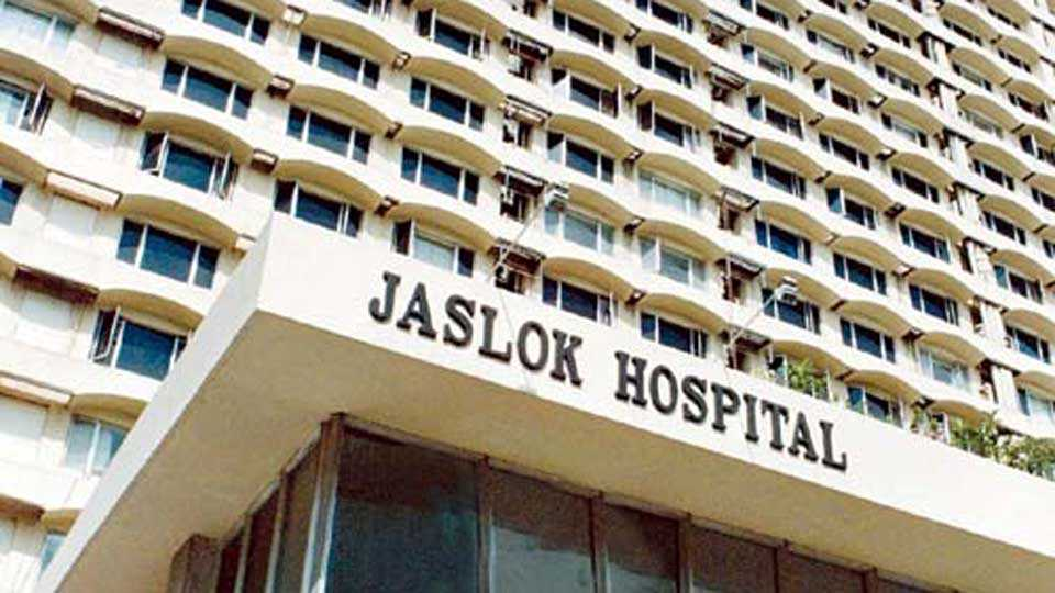 Jaslok Hospital returned the amount of Rs four and half lakh to the patient