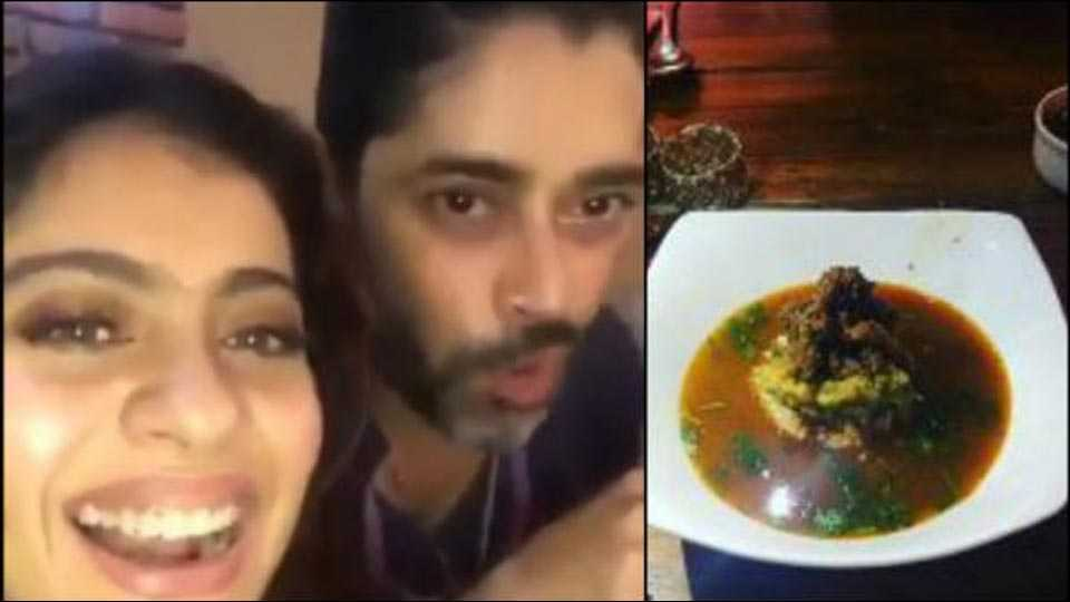 actress kajol shares video on beef dish