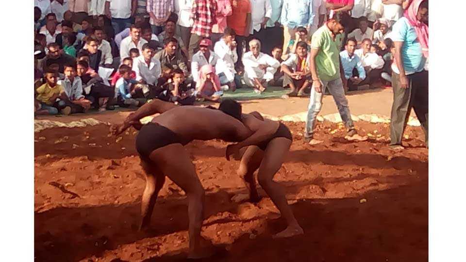 Wrestling in sand at Dombivli Mumbai