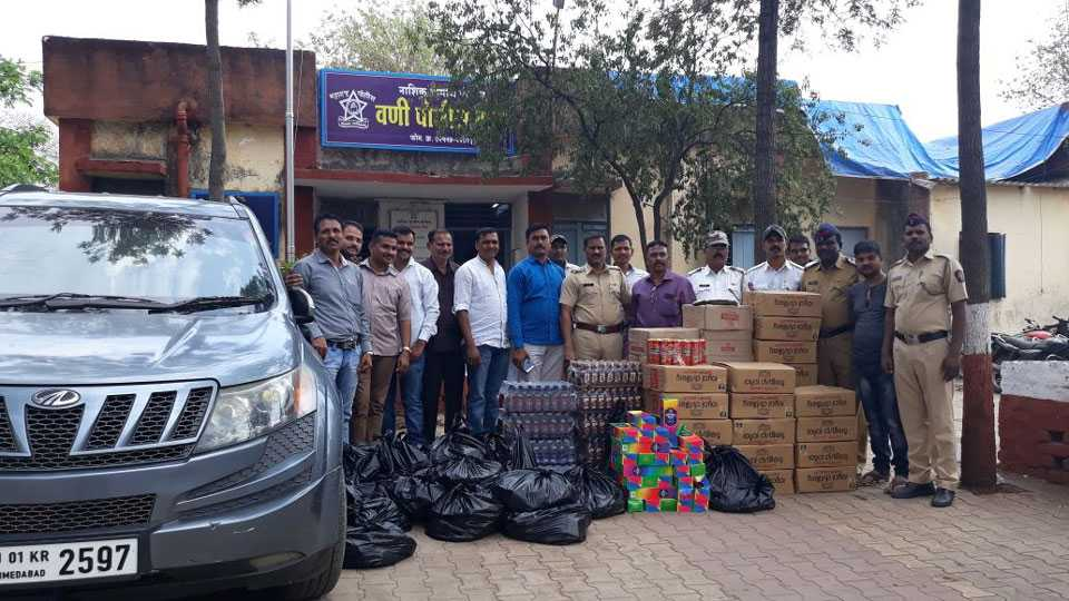 Three lakh liters of liquor was seized in the state of Gujarat