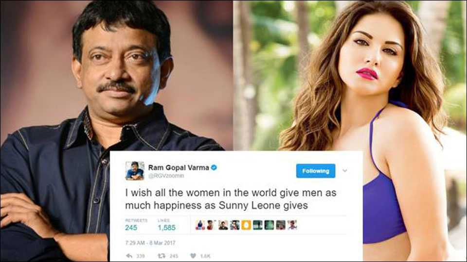 Ram Gopal Varma had some choice words to share on Women's Day. And it involves Sunny Leone.