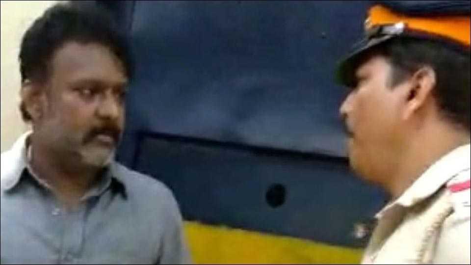 ex-mla ramesh kadam threatens police inspector manoj pawar, video viral