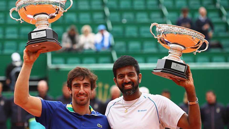 Rohan Bopanna and Pablo Cuevas win Monte Carlo Masters doubles crown