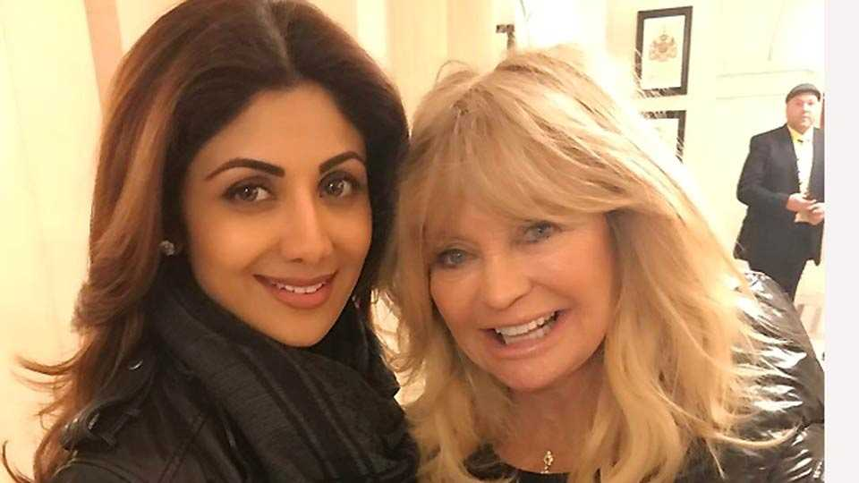 Shilpa Shetty meeting Goldie Hawn