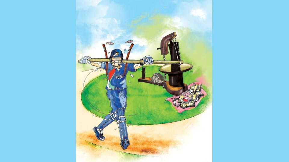 sunandan lele's cricket article in saptarang