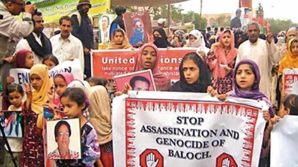 पाकिस्तान सरकारच्या विरोधात बलुचिस्तानमधील नागरिकांची निदर्शने. (प्रातिनिधिक छायाचित्र)