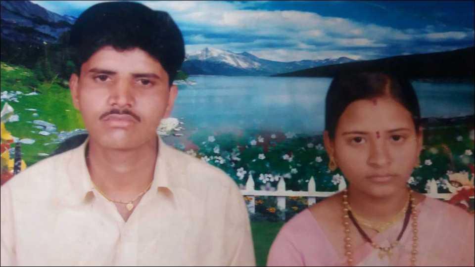 हुतात्मा जवान संदीप जाधव व त्यांची पत्नी उज्वला