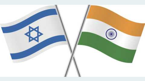 india israel flags
