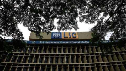 LIC shares