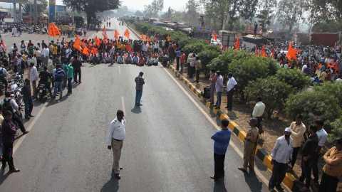 chakka jam agitation in kolhapur