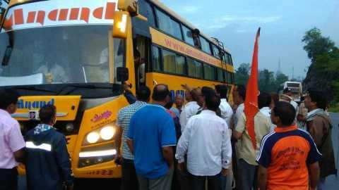 Shiv Sena agitation sawantwadi