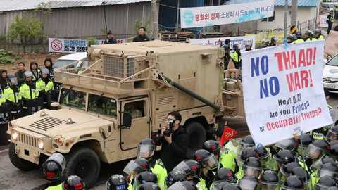US moves missile defence to South Korea site amid tensions with North
