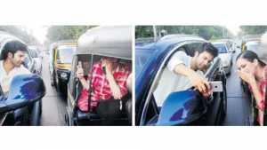 Marathi News varun dhavan took a selfie on street