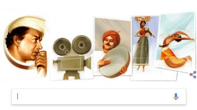 v-shantaram-google-doodle