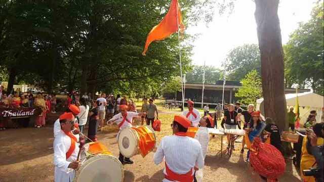 Dhol Tasha Practice At Sweden