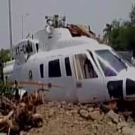 CM Fadnavis saved as helicopter crash landed