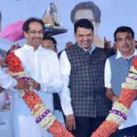 Uddhav Thackeray, Narayan Rane, Devendra Fadnavis and Nitin Gadkari come together