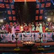 Ganesh Aarti On Set Of Sur Nava Dhyas Nava Singing Program On Colors Marathi Channel