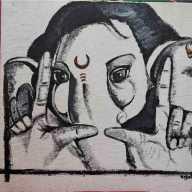 Marathi Actress Tejaswini Pandit Draw A Bal Ganesh Picture