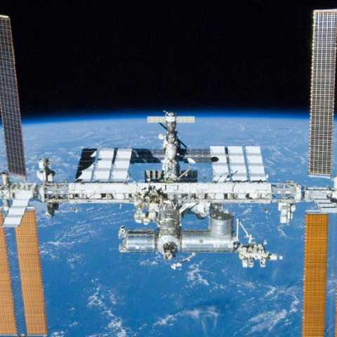 International space station see your eye