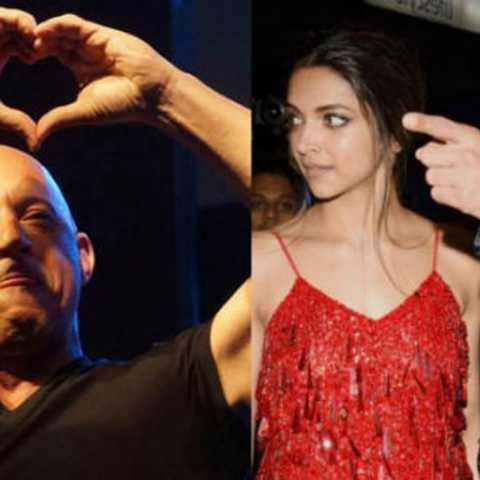 Deepika Padukone looks on as Vin Diesel refers to Ranveer Singh as her 'boyfriend'