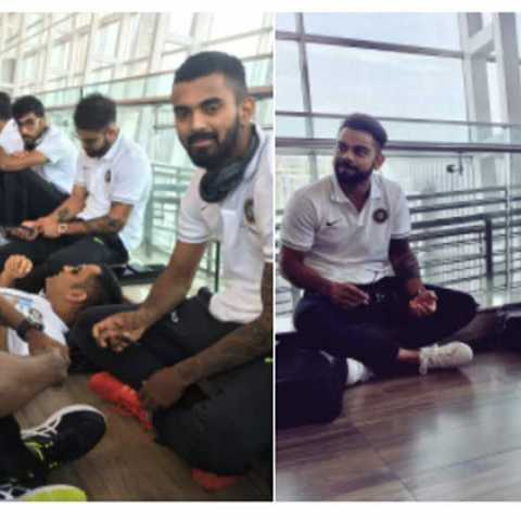 MS Dhoni Takes to Airport Floor to Rest After Match-winning Knock in Chennai