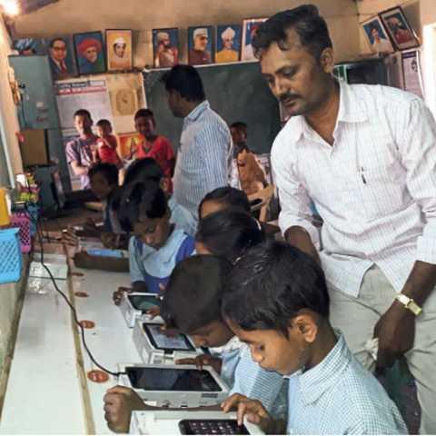 भैरेवाडी (ता. पाटण) - येथील जिल्हा परिषदेची प्राथमिक शाळा.