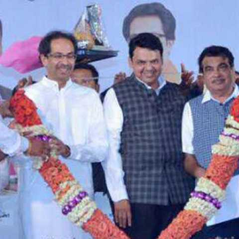 Uddhav Thackeray, Narayan Rane, Devendra Fadnavis and Nitin Gadkari come together